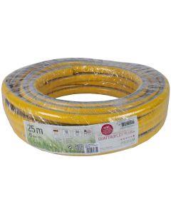 """Gele slang 1"""" 25m getricoteerd no torsion white plus (fitt)"""