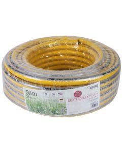 """Gele slang 1 1/4"""" 50m getricoteerd no torsion white plus (fitt)"""