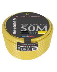 """Gele slang 1/2"""" 25m, getricoteerd high twist resistant"""
