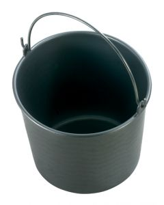 Bouwemmer 12l.zwart eco