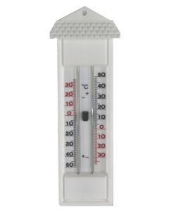 Buitenthermometer wit min/max