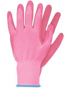 Werkhandschoenen maat m roze latex