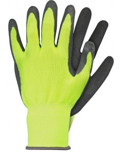 Werkhandschoenen maat m latex geel