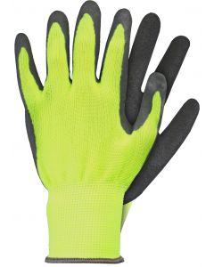 Werkhandschoenen maat s latex geel