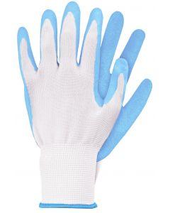Werkhandschoenen maat m licht blauw