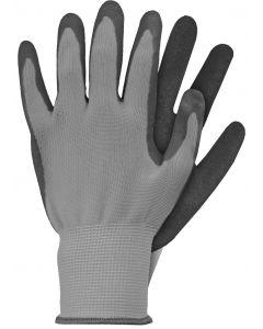Werkhandschoenen maat s grijs latex