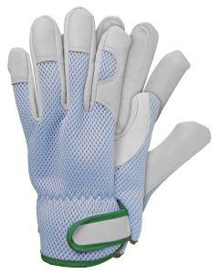 Werkhandschoenen maat xl geitenleer blauw