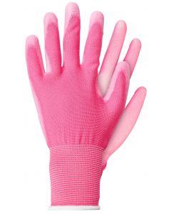 Werkhandschoenen maat s licht poly roze