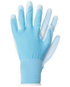 Werkhandschoenen maat s licht poly blauw