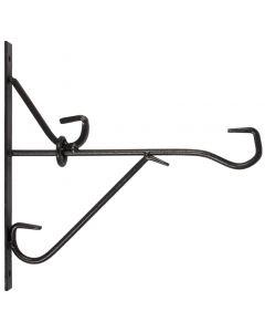 Muurhaak smeedijzer zwart 25cm