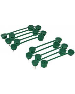Plantenklemmen groen 15mm 15st