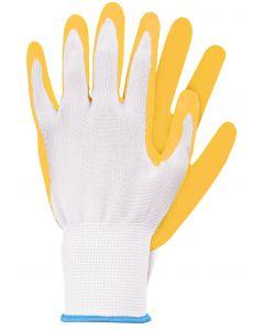 Werkhandschoenen maat s geel latex