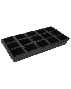 Zaaibak vierkante potjes (15 stuks)