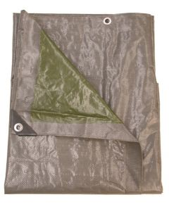 Dekzeil 140gr/m2  - 6 x 4 m, grijs/groen