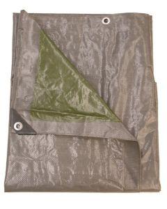 Dekzeil 140gr/m2 - 6 x 10 m, grijs/groen