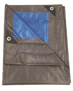 Dekzeil 210gr/m2 - 6 x 10 m, grijs/blauw