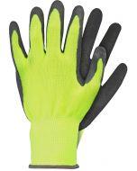 Werkhandschoenen maat xl latex geel