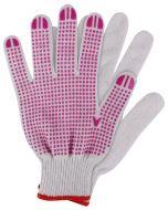 Werkhandschoenen maat m. katoen roze