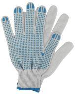 Werkhandschoenen maat m. katoen blauw